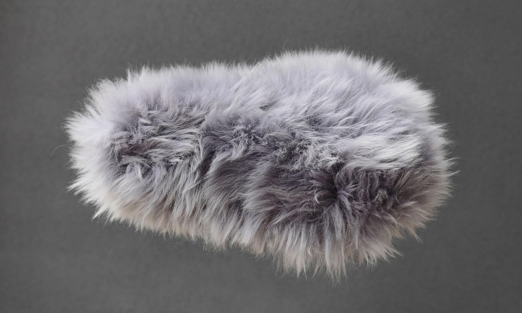 Couvre selle gris poils longs