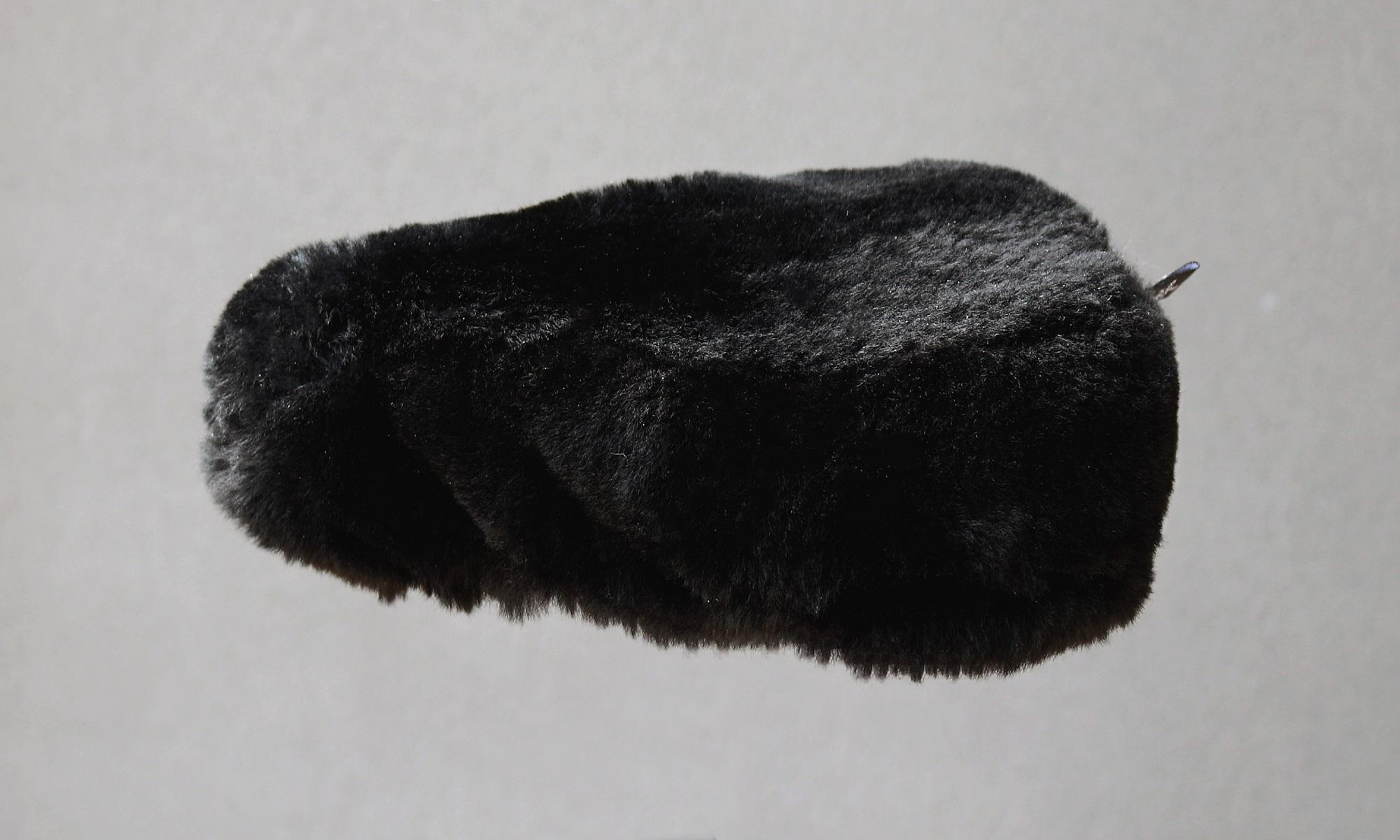 Couvre selle noir poils ras