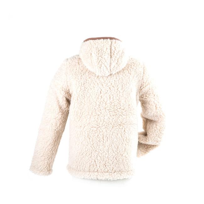 gilet en laine de mouton à capuche lavable machine homme femme intérieur laine naturelle de mouton blanche fourré lainage veste cardigan doublure manteau pull en laine direct tannerie grossiste