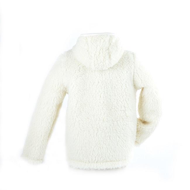 gilet en laine de mouton à capuche mixte homme femme intérieur laine naturelle de mouton blanche fourré fourrure lainage veste cardigan doublure manteau pull grossiste dt collection