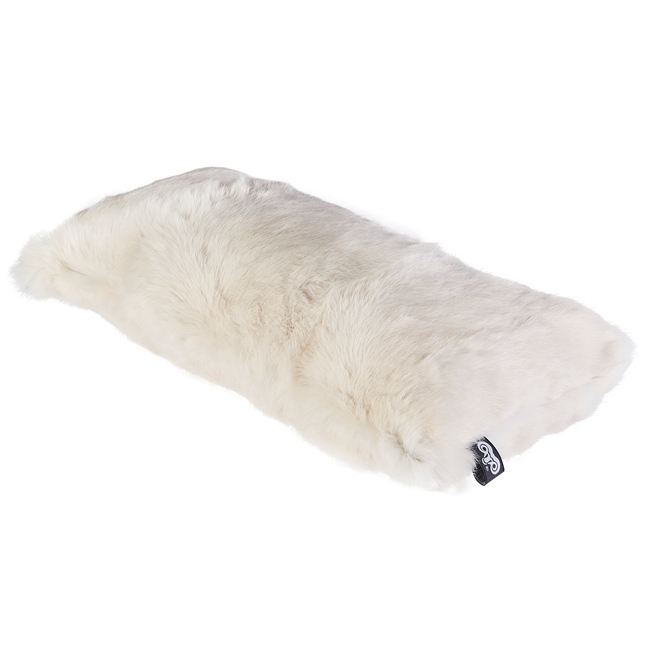 housse de coussin en peau de lapin naturel beige craie 30x60 double face dt collection direct tannerie grossiste fournisseur FRANCE 1