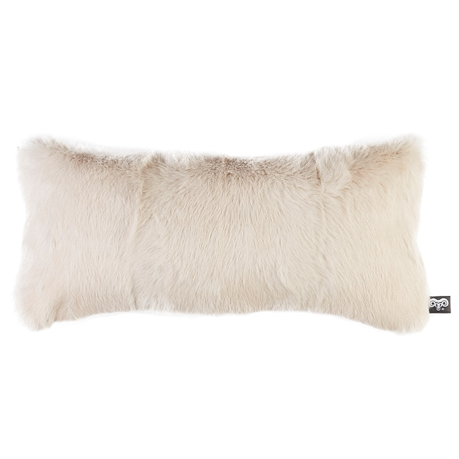 housse de coussin en peau de lapin teinté beige clair craie écru 30x60 simple face dt collection direct tannerie grossiste fournisseur fabrication france p