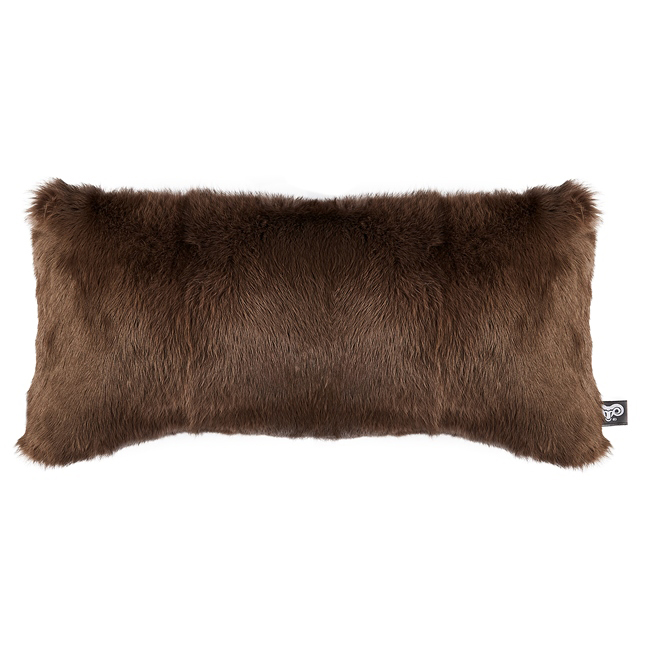 housse de coussin en peau de lapin teinté chataigne marron clair 30x60 simple face dt collection direct tannerie grossiste fournisseur fabrication france p