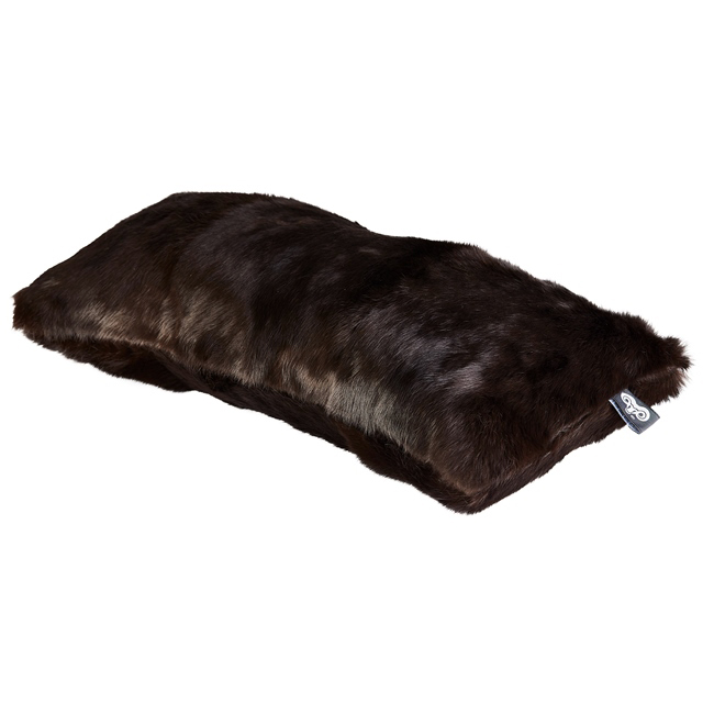 housse de coussin en peau de lapin teinté marron cachou 30x60 double face dt collection direct tannerie grossiste fournisseur france p