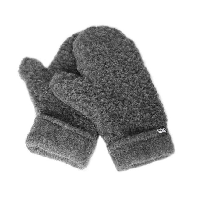 Moufles mixtes en laine de mouton grise