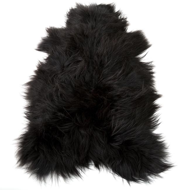 Peau de mouton islandaise naturelle noire tapis descente de lit tapis en laine naturelle classique chambre salon carpette décoration peau de bête importateur grossiste dt collection