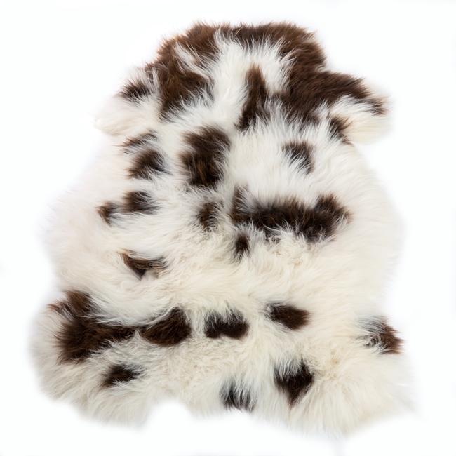 Peau de mouton mérinos naturel jacob blanc marron tapis descente de lit tapis en laine naturelle classique chambre salon carpette décoration peau de bête dt collection fournisseur gros