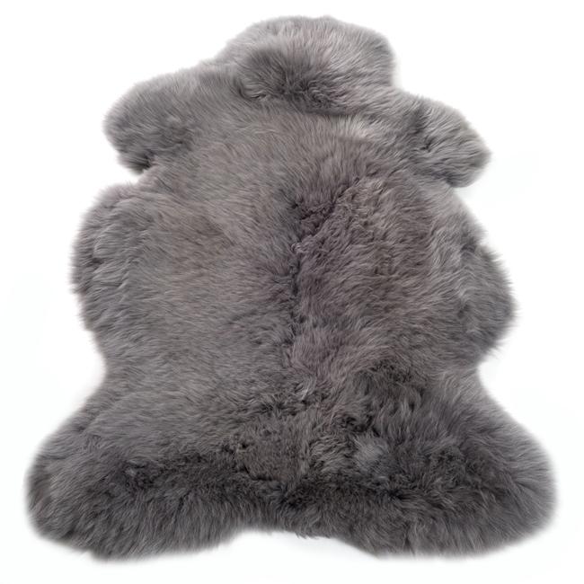 Peau de mouton mérinos teintée grise tapis gris souris descente de lit tapis en laine naturelle classique direct tannerie grossiste importateur négociant fourrure