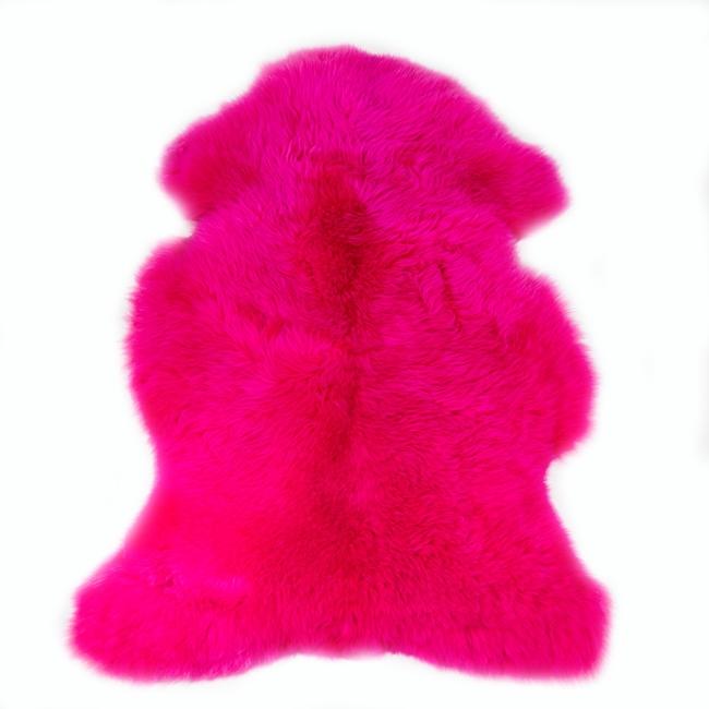 Peau de mouton mérinos teintée rose tapis descente de lit tapis en laine naturelle chambre direct tannerie importateur grossiste vente en gros