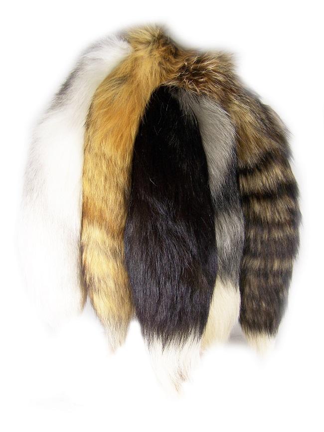 porte clé queue de renard naturelle blanc sauvage direct tannerie dt collection grossiste importateur vente en gros